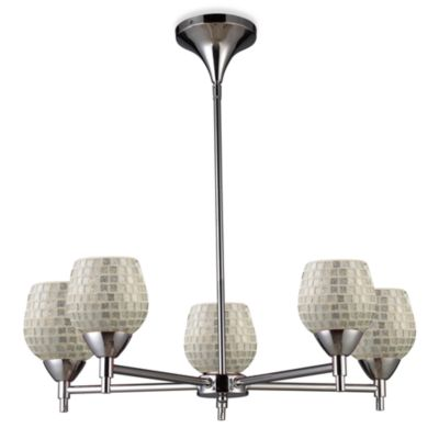 ELK Lighting Celina 5-Light Chandelier in Polished Chrome/Silver