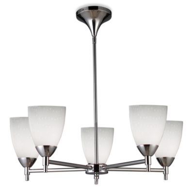 ELK Lighting Celina 5-Light Chandelier in Polished Chrome/Simple White