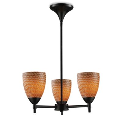 ELK Lighting Celina 3-Light Chandelier in Dark Rust/Coco