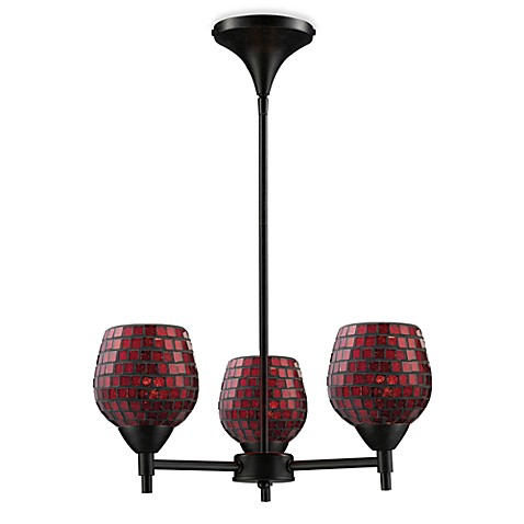 ELK Lighting Celina 3-Light Chandelier in Dark Rust/Copper