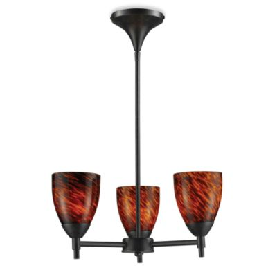ELK Lighting Celina 3-Light Chandelier in Dark Rust/Espresso