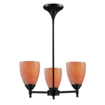 ELK Lighting Celina 3-Light Chandelier in Dark Rust/Sandy