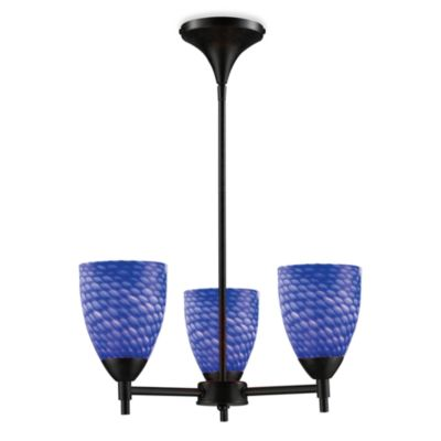 ELK Lighting Celina 3-Light Chandelier in Dark Rust/Sapphire