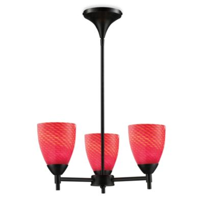 ELK Lighting Celina 3-Light Chandelier in Dark Rust/Scarlet