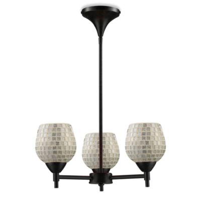 ELK Lighting Celina 3-Light Chandelier in Dark Rust/Silver