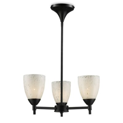 ELK Lighting Celina 3-Light Chandelier in Dark Rust/Snow White