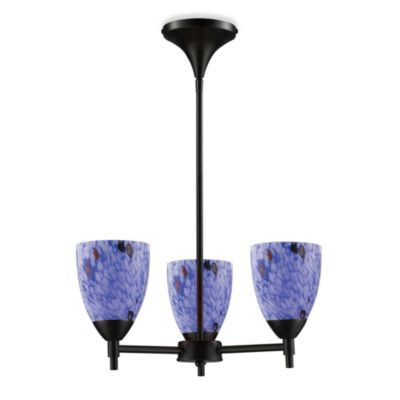 ELK Lighting Celina 3-Light Chandelier in Dark Rust/Starburst