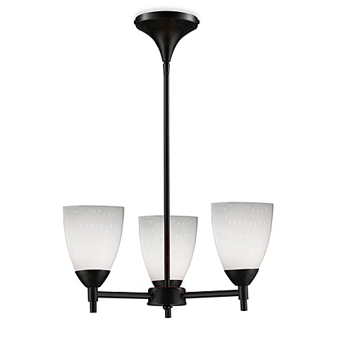 ELK Lighting Celina 3-Light Chandelier in Dark Rust/Simple White