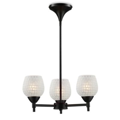 ELK Lighting Celina 3-Light Chandelier in Dark Rust/White