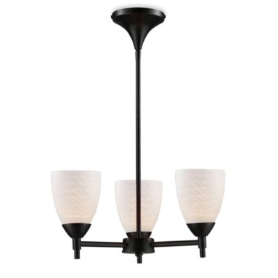 ELK Lighting Celina 3-Light Chandelier in Dark Rust/White Swirl