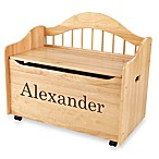 KidKraft® Personalized Boy's Toy Box in Natural with Brown Lettering