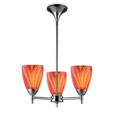 ELK Lighting Celina 3-Light Chandelier in Polished Chrome/Multi
