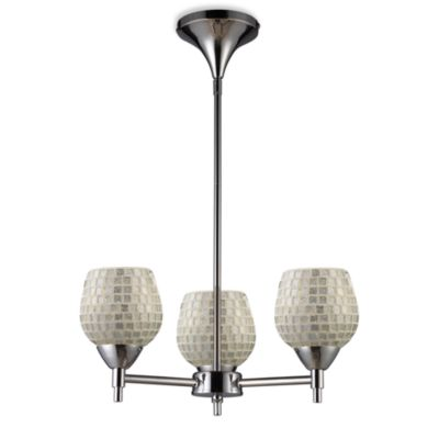 ELK Lighting Celina 3-Light Chandelier in Polished Chrome/Silver