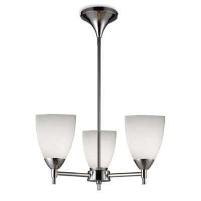 ELK Lighting Celina 3-Light Chandelier in Polished Chrome/Simple White