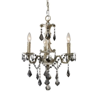 ELK Lighting Marseille 3-Light Chandelier in Weathered Silver