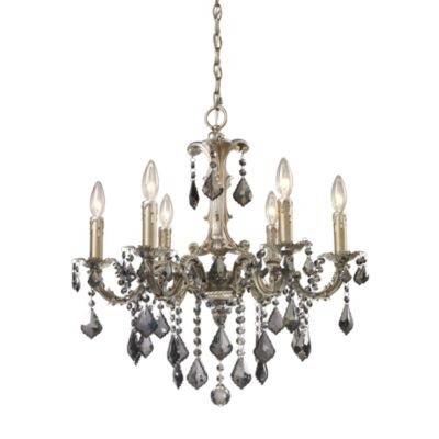 ELK Lighting Marseille 6-Light Chandelier in Weathered Silver