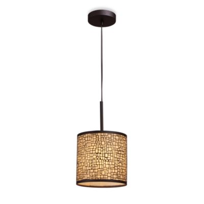 ELK Lighting Medina 1-Light Pendant Ceiling Lamp in Aged Bronze