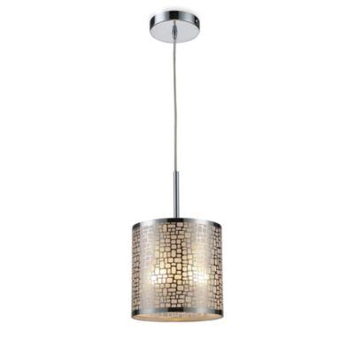 ELK Lighting Medina 1-Light Pendant Ceiling Lamp in Polished Stainless Steel