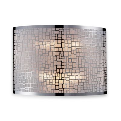 ELK Lighting Medina 2-Light Sconce in Polished Stainless Steel
