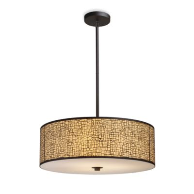 ELK Lighting Medina 5-Light Pendant Ceiling Lamp in Aged Bronze