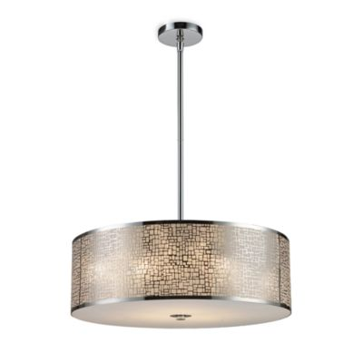 ELK Lighting Med in a 5-Light Pendant Ceiling Lamp in Polished Stainless Steel