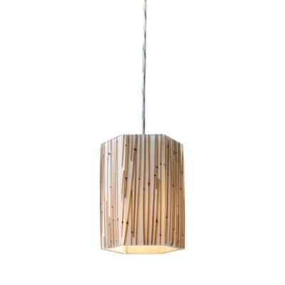 ELK Lighting Modern Organics 1-Light Pendant in Bamboo