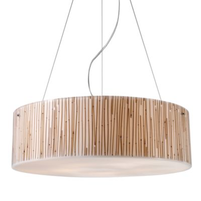 ELK Lighting Modern Organics 5-Light Pendant in Bamboo