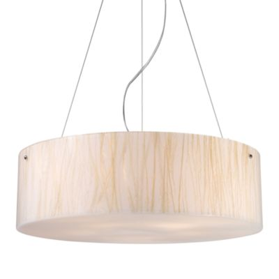 ELK Lighting Modern Organics 5-Light Pendant in White