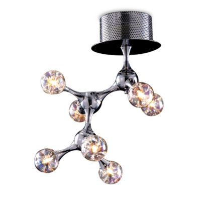 ELK Lighting Molecular Collection 7-Light Semi-Flush Fixture in Chrome