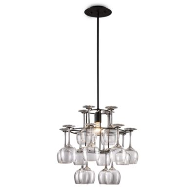 ELK Lighting Vintage 1-Light Chandelier in Dark Rust With Glass