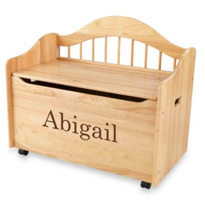 "KidKraft™ ""Abigail"" Toy Box in Natural with Brown Lettering"