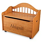 KidKraft® Personalized Girl's Toy Box in Honey with Brown Lettering