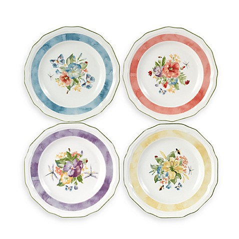 Mikasa® Antique Garden Assorted 7-Inch Tidbit Plates (Set of 4)