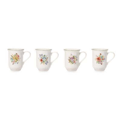 Mikasa® Antique Garden Assorted 14-Ounce Mugs (Set of 4)