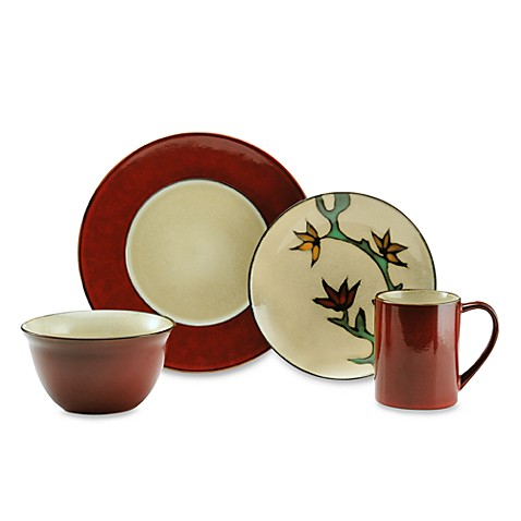Gourmet Basics by Mikasa® Camden Red 16-Piece Dinnerware Set