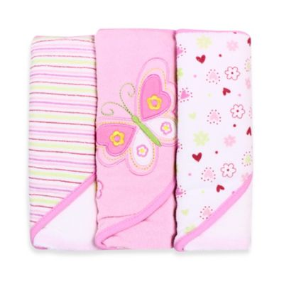 Spasilk Hooded Towel (Pack of 3) - Butterfly