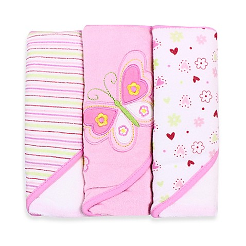 Spasilk® Hooded Towel (Pack of 3) - Butterfly