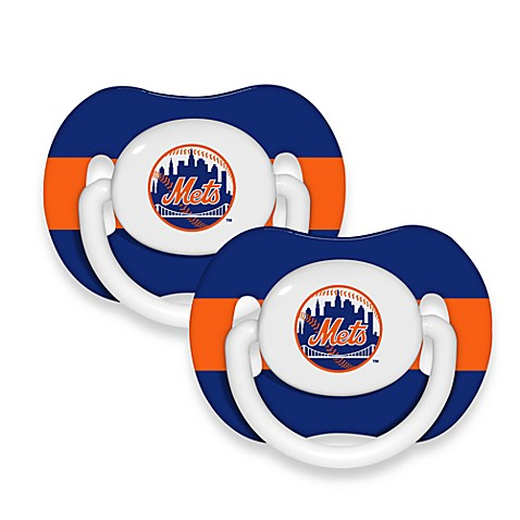 Baby Fanatic® MLB® Pacifier 2-Pack in New York Mets