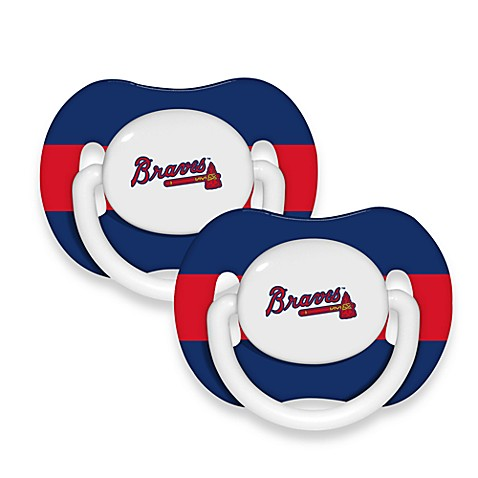 Baby Fanatic® MLB® Pacifier 2-Pack in Atlanta Braves
