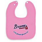 MLB® Pink Baby Bibs in Atlanta Braves