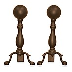 UniFlame® 17-Inch Bronze Ball Andirons