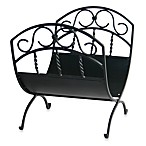 UniFlame® Log Rack with Scrolls in Black Wrought Iron