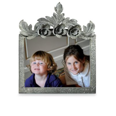 5 x 7 Metal Picture Frame with Flowers