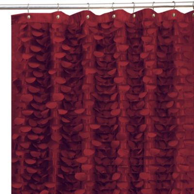 """72"""" x 72 Red Shower Curtain"""