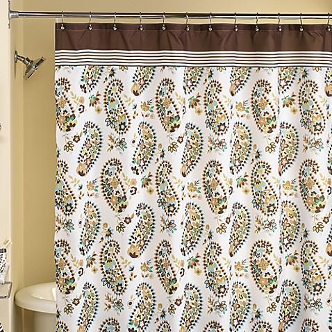 Loft Style Hannah Paisley 70 W X 72 L Fabric Shower
