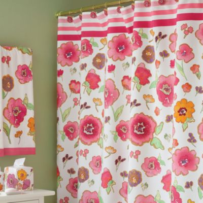 Lenox® Floral Fusion 70-Inch W x 72-Inch L Fabric Shower Curtain