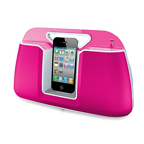 HMDX® Docking Speaker and Portable Audio System in Pink