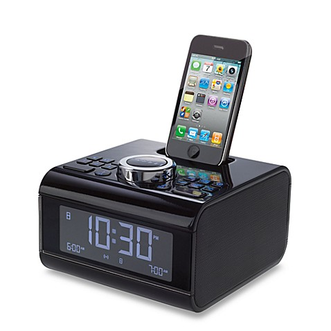 Brookstone® iDesign Cube Alarm Clock Radio for iPod® and iPhone®