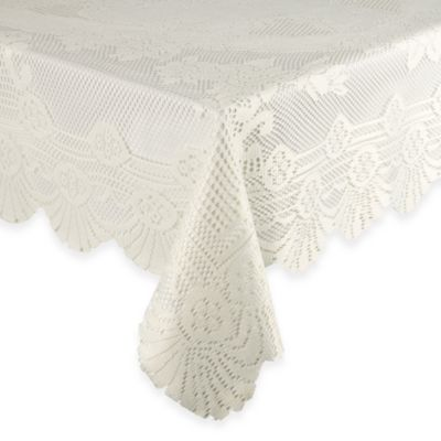 Lace Tablecloth 63-Inch x 108-Inch in White