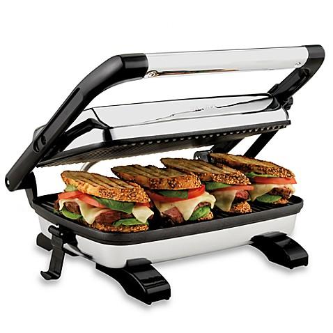 hamilton beach panini press gourmet sandwich maker bed bath beyond. Black Bedroom Furniture Sets. Home Design Ideas